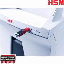 Broyeur de papier HSM Auto Feed 300 - Coupe croisée 4.5 x 30 mm