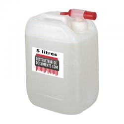 Bidon de lubrification pour destructeur de documents  5 litres