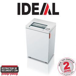 Destructeur de documents IDEAL 2445 - C/C 4 x 40 mm