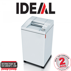 Destructeur de documents IDEAL 2604 - C/C 4 x 40 mm