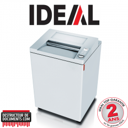 Destructeur de documents IDEAL 3804 - C/C 4 x 40 mm