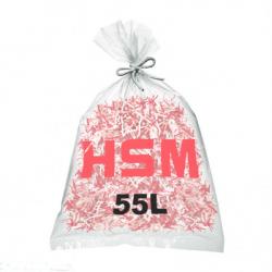 Lots de 100 sacs plastiques HSM - 55 litres Référence (1661995050)