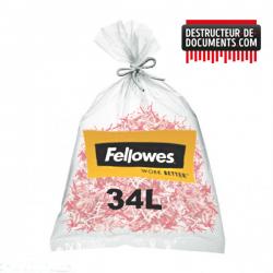 Lot de 100 sacs plastiques FELLOWES - 34 litres (référence 36053)