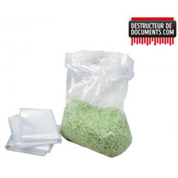 Sacs plastiques 55 litres pour destructeurs papier HSM
