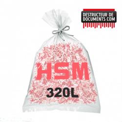 Lots de 100 sacs plastiques HSM - 320 litres Référence (1452995000)