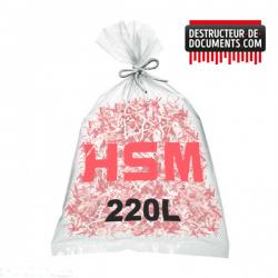 Lots de 100 sacs plastiques HSM - 220 litres Référence (6111995200)