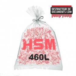 Lots de 100 sacs plastiques HSM - 460 litres Référence (1513995100)
