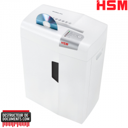 Destructeur de documents HSM Shredstar X13 - Coupe croisée 4 x 37 mm