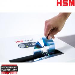 Destructeur de papier HSM Pure 320 - Coupe droite 3,9 mm