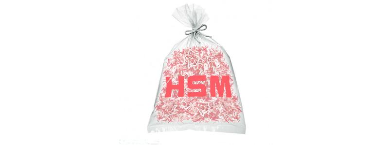 Sacs plastiques pour destructeurs de documents HSM