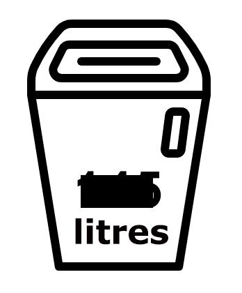 Réceptacle de 145 litres