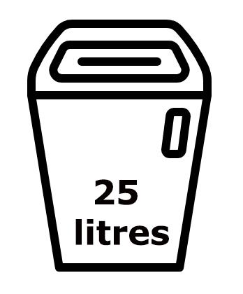 Réceptacle de 25 litres