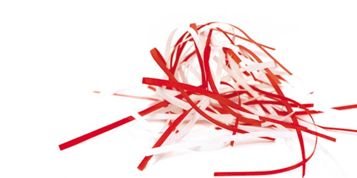 Destructeur de papier coupe fibre