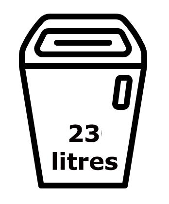 Réceptacle de 23 litres