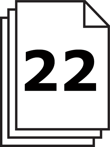 La capacité de coupe du destructeur de papier 3804 est de 22 feuilles