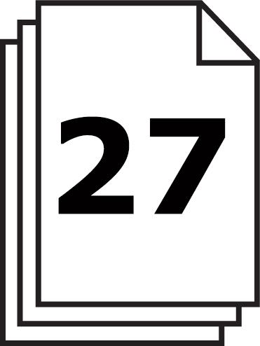 Capacité de coupe du iIDEAL 3104  : 27 feuilles