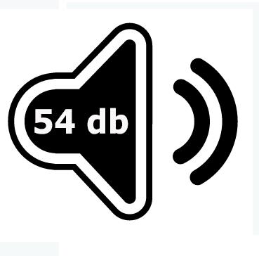 Le IDEAL 4005 émet 54 décibels