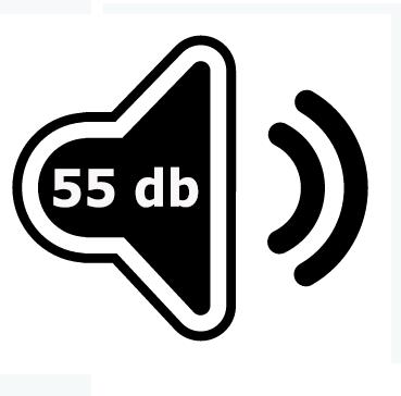 Le IDEAL 4002 émet 55 décibels